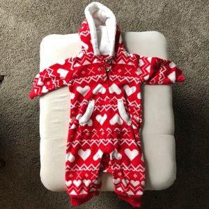 Carter's 3m girls heart hoodie onesie